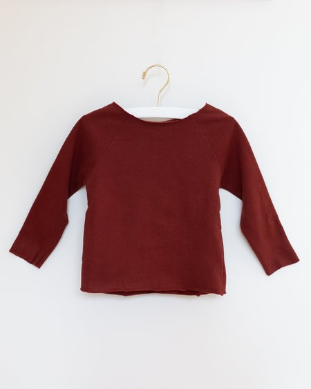 Kids Gray Label Ribless Sweater - Burgundy