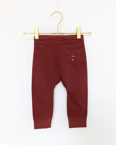 Kids Gray Label Seamless Baggy Pants - Burgundy