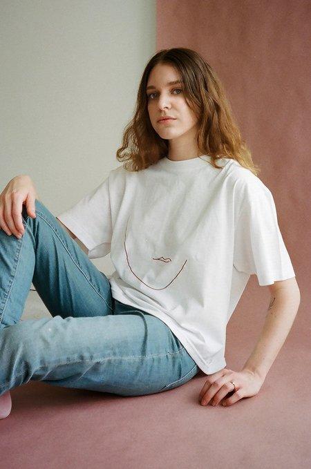 Soft Focus x Melody Hansen Melody Tee - White