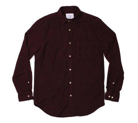 Portuguese Flannel Teca Flannel Shirt - Bordeaux