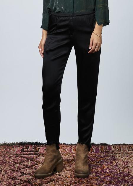 Jaga Tapered Rayon Easy Pant - BLACK