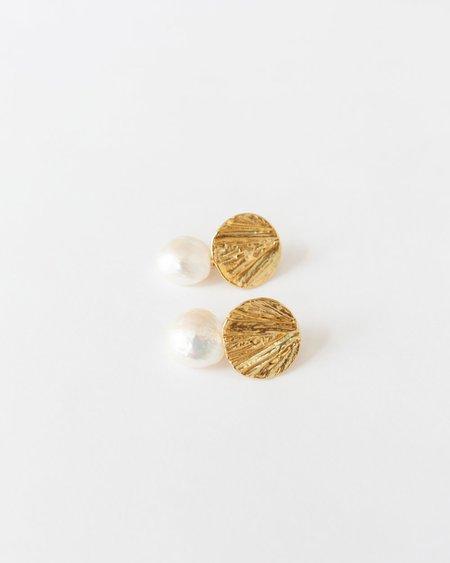Mirit Weinstock Tatamu & Wild Pearl Earrings - Gold