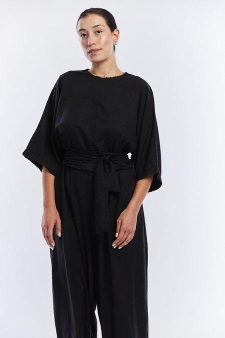 Miranda Bennett Silk Noil Hesse Jumpsuit - Black