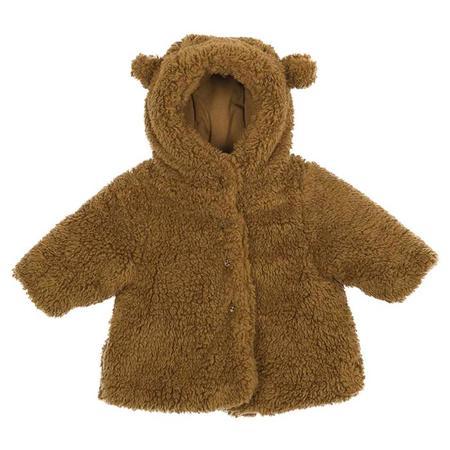 KIDS Petit Bateau Baby Faux Fur Coat - Brown