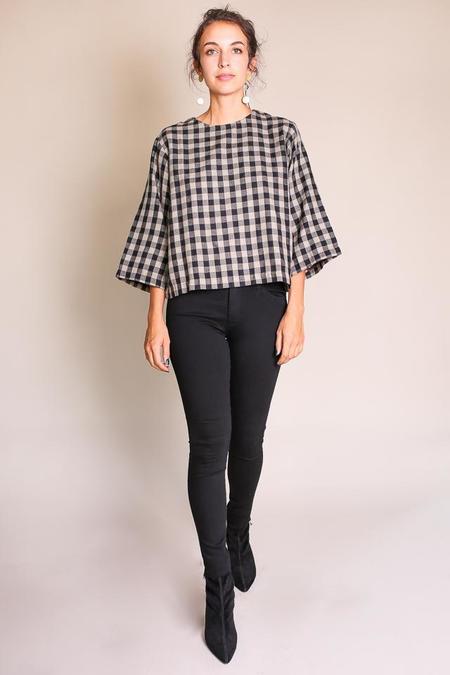 Umber & Ochre Gwen Top - Wool Plaid