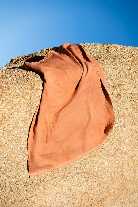 SIN bath towel - terracota