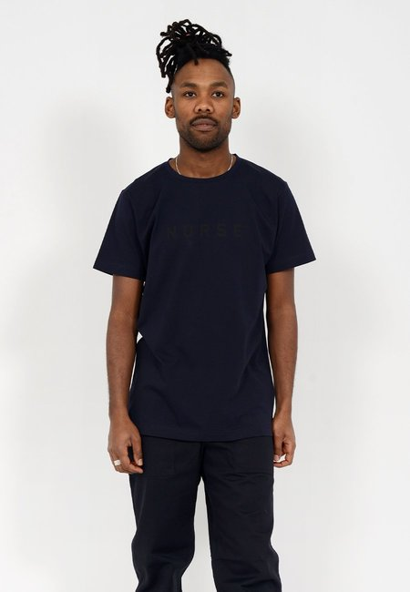 Norse Projects Esben Compact Logo T-Shirt - Dark Navy