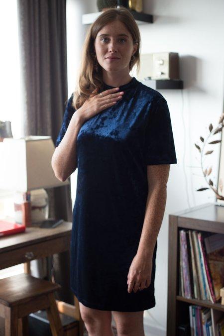 Hope Dress - Blue Velvet