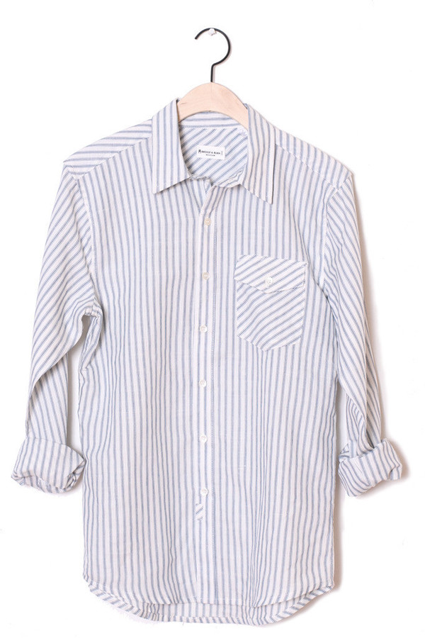 Men's Bridge & Burn Charlton Stripe Linen Button-Up