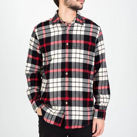 Portuguese Flannel Abril Flannel Shirt - White/Black/Red