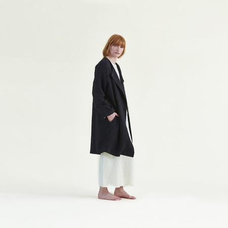 Meusshop.com Black Crane Coat - Black