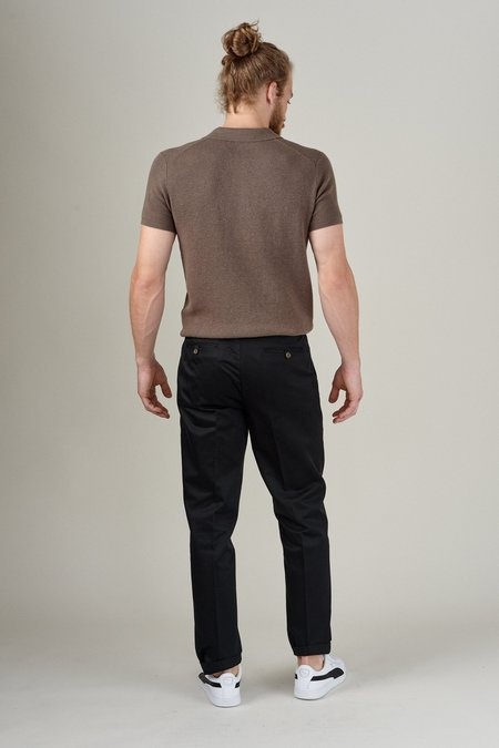 SATURDAYS NYC LEON PIMA PANT - BLACK