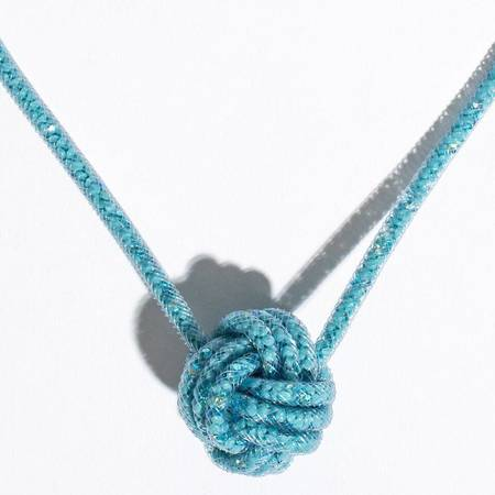 Peppercotton Knot Necklace - Turquoise