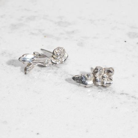 Saint Claude Rose Earrings - Sterling Silver