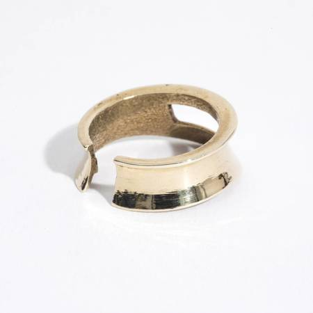 Aesa Small Shield Ring - BRONZE