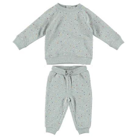 KIDS Stella McCartney Baby Betty And Zachary Sweatsuit - Grey With Dots