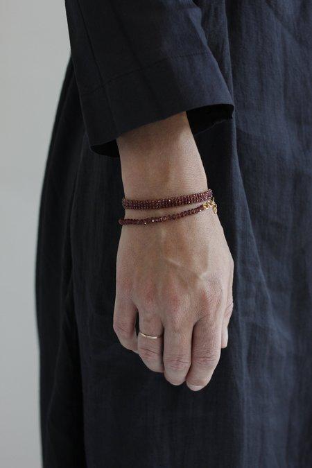 Lena Skadegard Garnet Crochet Bracelet