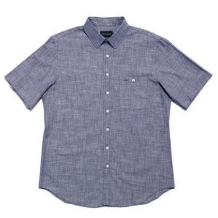 Outclass Attire Utility S/S Shirt - Blue Chambray