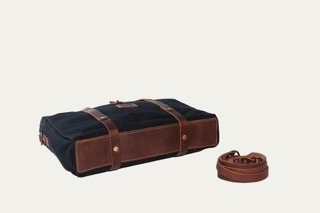 Bradley Mountain Courrier Briefcase - BLACK