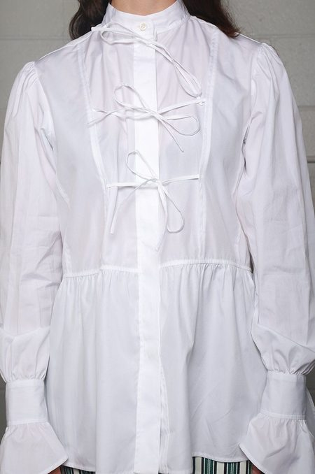 Alexa Chung The Front Bow Blouse - White