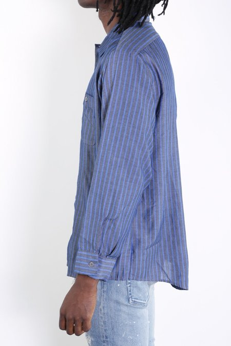 Rxmance Vintage Workwear Shirt - Charcoal/Blue Stripe