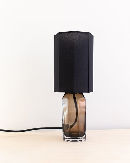 Louise Roe Small Glass Table Lamp - Smoke
