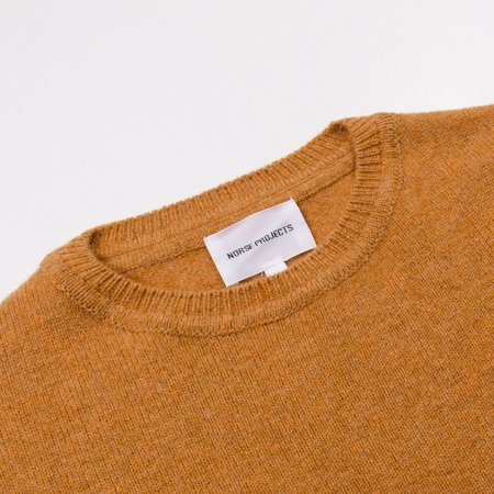 Norse Projects Sigfred Lambswool Sweater - Mustard Yellow
