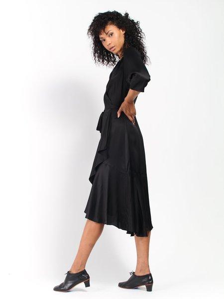 Rodebjer Miliana Satin Dress - Black