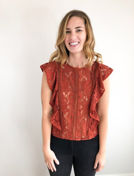dra Lace Top - Burnt Amber