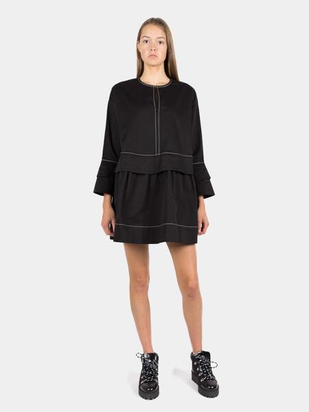 Ganni Hewson Mini Dress - Black