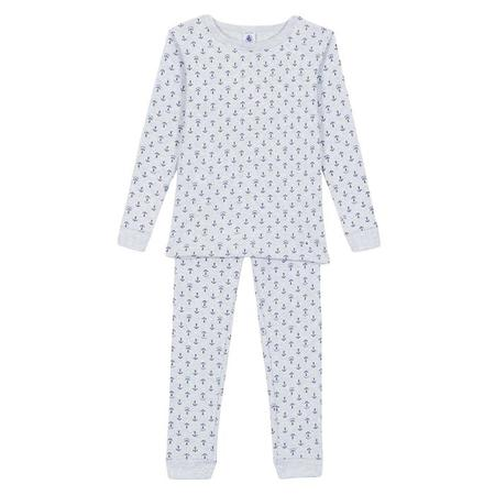 KIDS Petit Bateau Child Pyjamas - Grey With Anchors