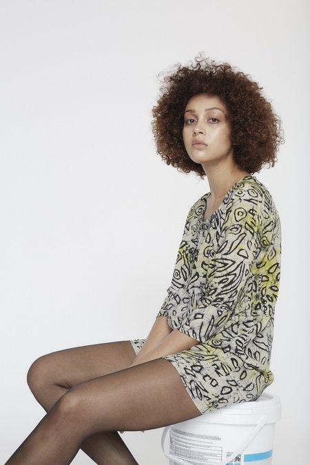 Osei-Duro Linter Dress - A Touch of Leopard