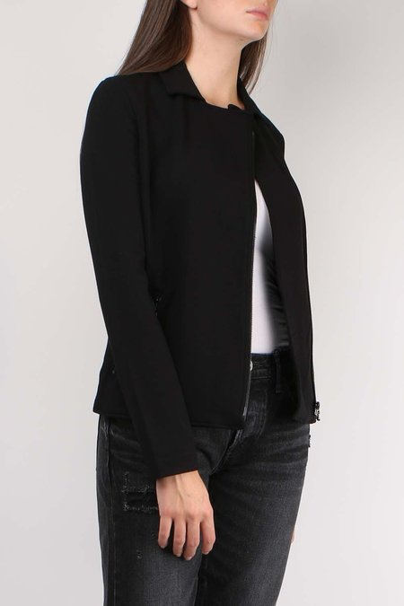 Majestic Filatures French Terry Long sleeve Moto Jacket - Noir