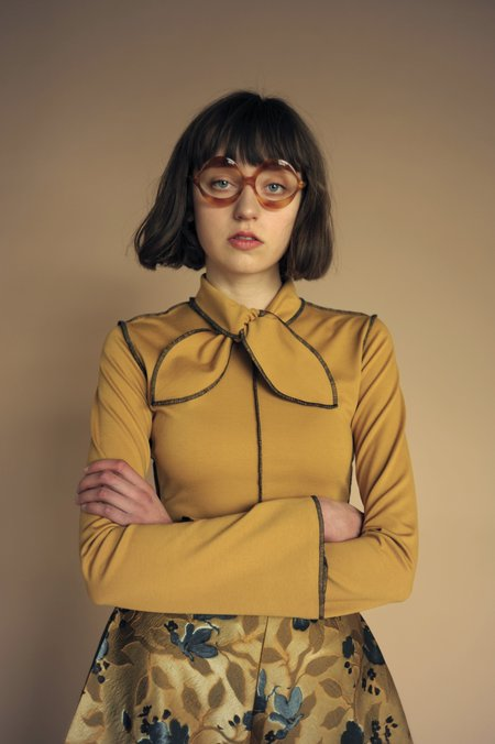 Eliza Faulkner Pippa Top - Mustard Yellow