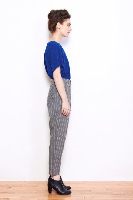 Shale Mare Renata Pinstripe Trouser - Graphite