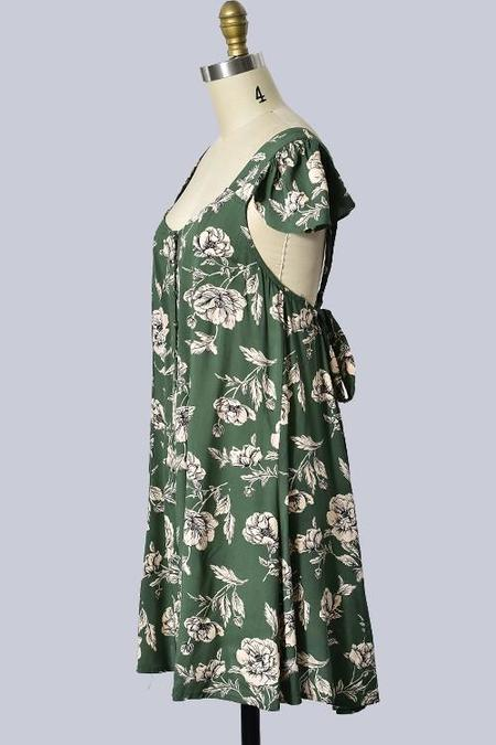 Trend Shop Capri Open Back Mini Dress - Spring Green