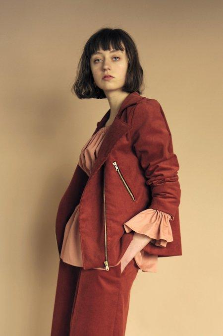 Eliza Faulkner Moto Jacket - Rust