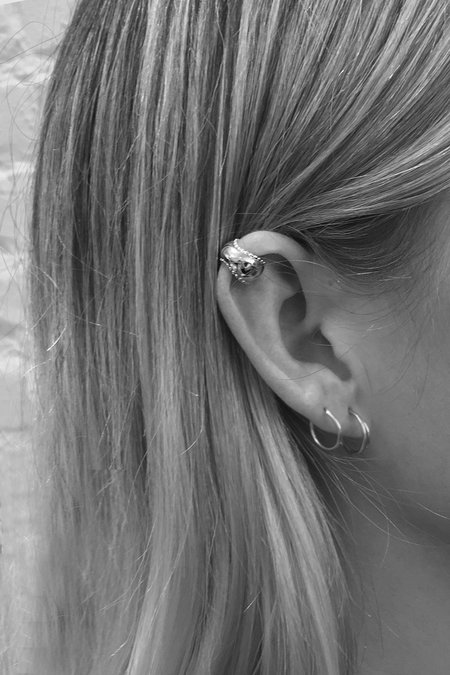 MM Druck Sterling Silver Prisca Ear Cuff - sterling silver