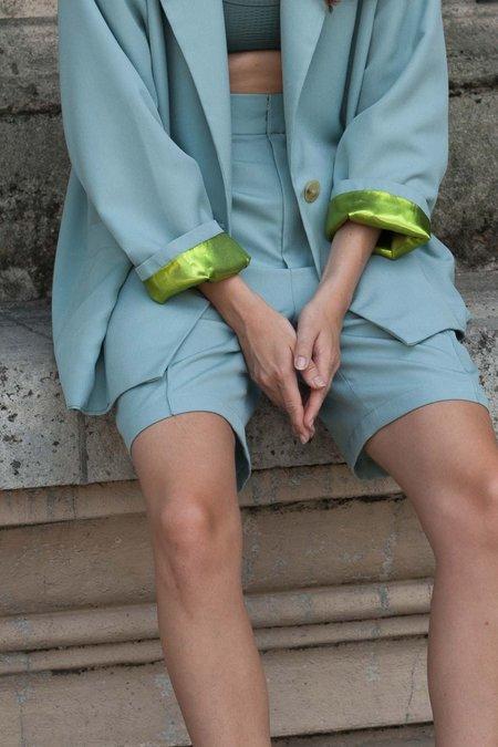Index Series Trouser Pintuck Shorts - Mint Green