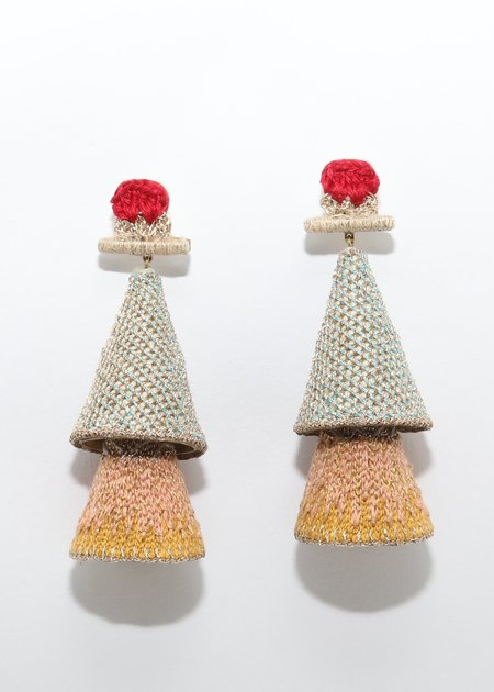 Nani Haveli Large Embroidery Earring - 19