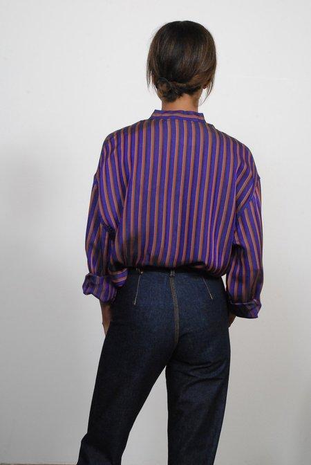 Creatures of Comfort Monet Top - Striped Purple