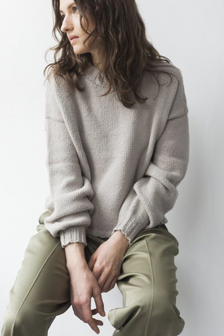 Bare Knitwear Square Crew - Oatmeal