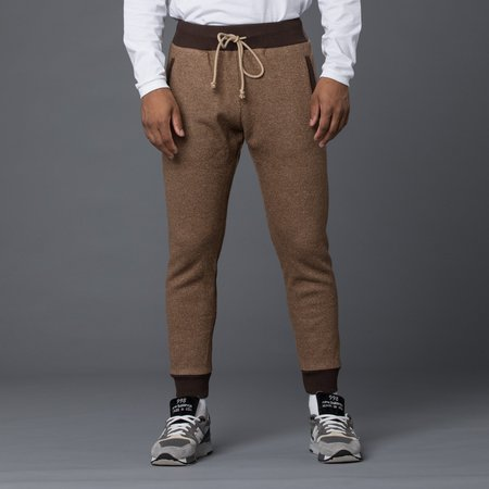 Thaddeus O'Neil Wool Pipe Pant - Brown