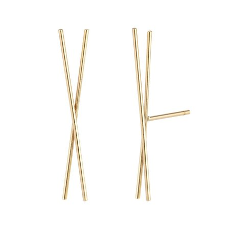 HORTENSE JEWELRY CHOPSTICK EARRING - 14K Yellow Gold