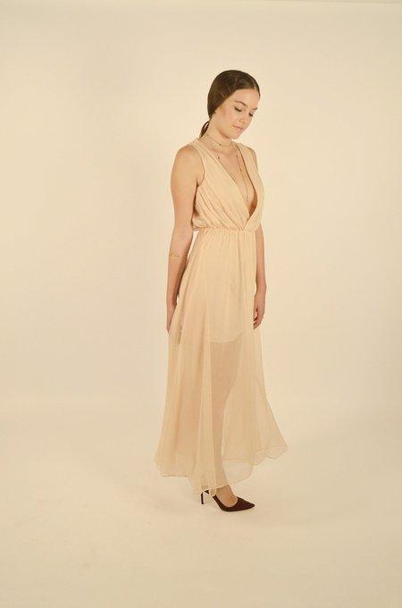 Keepsake All Rise Maxi Dress - BISCUIT
