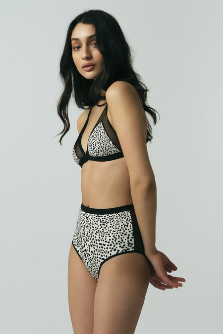 Mary Young Contrast Bra - BLACK/WHITE