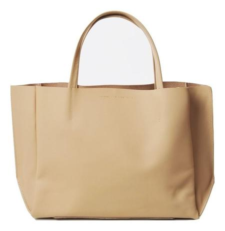 Ampersand As Apostrophe Sideways Stiff Tote Bag - Beige