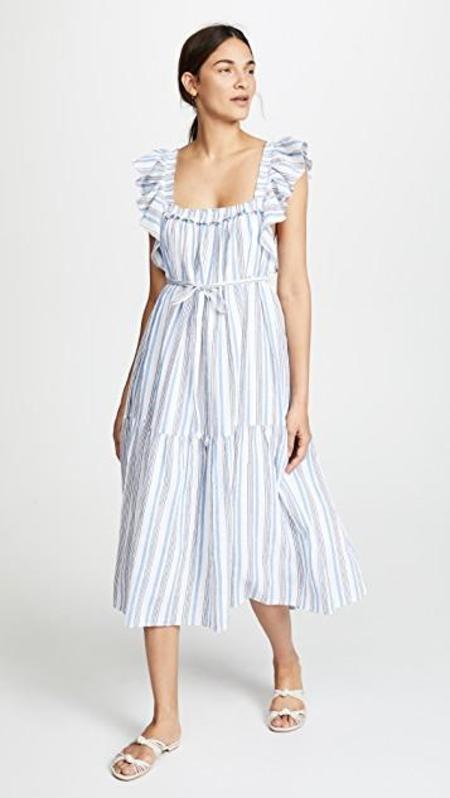 Apiece Apart Ossetia Tiers Dress - Seaside Stripe