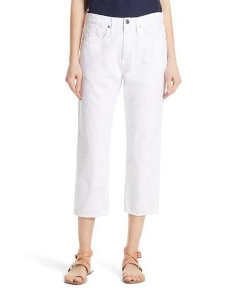 FRAME Denim Le Stevie Crop Jeans - White