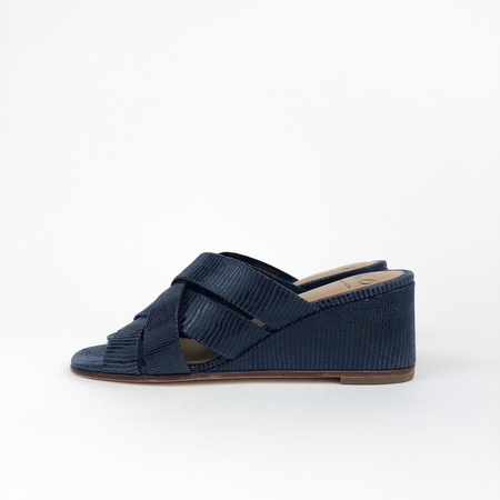 No.6 Orlando Wedge - Navy